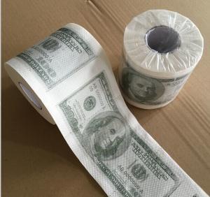 Quality Custom Printed Dollar& Emoji toilet tissue paper wholesale