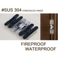 Buy cheap sus 304 stainless steel adjustable invisible hinge from wholesalers