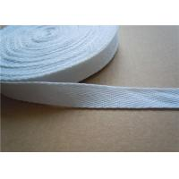 Quality 20mm White Non Elastic Tape Trim , Sewing Double Fold Bias Tape wholesale