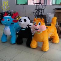 Quality Hansel  amusement ride  plush rocking scooter with music electronic toys for adults wholesale