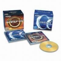 China Printer DVD-R/Blank DVD with 4.7GB Capacity and 10.4mm Plastic Case Pack on sale