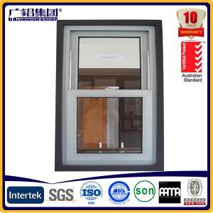 China American Style aluminium single hung windows double hung windows on sale
