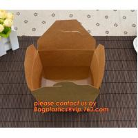 Buy cheap brown kraft cardboard burger box for hamburger food with logo printing, Food Grade Paper box, Lunch box, Bento box, Frie product