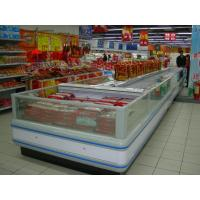 Quality Refrigeration Condensing Unit Island Display Freezer With Night Curtain wholesale