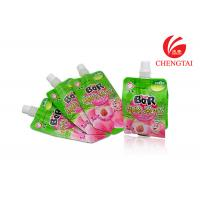 Resealable Fruit Juice Stand Up Pouch With Spout / Small Spout Pouch