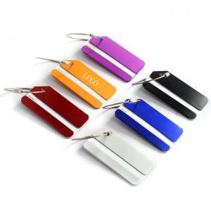 China Aluminium alloy luggage tag, metal baggage tag, boarding pass, identity card, alumina tag,logo customized on sale