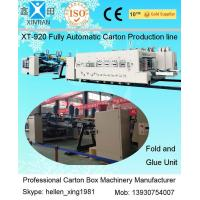 Quality XT-920 Model Automatic Carton Box Making Line with Folder Gluer and Strapper  Inline wholesale