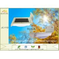 China Voice Controlled 80LM - 100LM 1W 16 LED Solar Powered Sensor Light Outdoor on sale