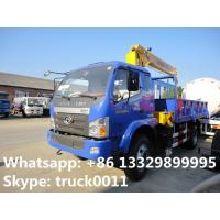 Buy cheap forland 125hp truck with crane for sale, factory sale forland truck mounted crane product