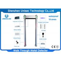 Quality Outdoor Multi Zone Metal Detector Metal Detector Walk Through With Small LCD Display wholesale