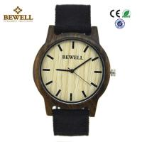 Quality Black Sandalwood Original Custom Wood Watches Hand Made Japan Pc21 Movement wholesale