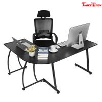 Quality Custom Modern Executive Office Furniture , L Shape Corner Contemporary Office Table wholesale