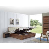 Cheap Cheap FSC Certificated Good quality Upholstery headboard bed with wood storage for sale
