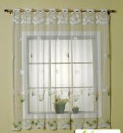 China 100% POLYESTER LACE CURTAIN PANEL on sale