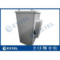 China Double Wall Air Conditioning Outdoor Telecom Cabinet Galvanized Steel Front Access Door on sale