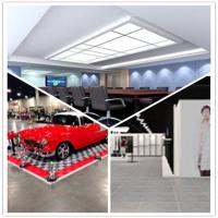 Quality Meeting Room/Show Room/Garage/Warehouse/Bathroom/Home PVC Interlocking Decking Flooring wholesale