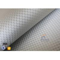 Quality 220g Silver Plated Aluminized Fiberglass Cloth Fabric For Surface Decoration wholesale