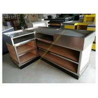 Buy cheap Stainless Steel / Wood Cashier Checkout Counter Electrostatic Spray Surface from wholesalers