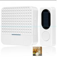 China 433MHz Solar Powered Long Range Wireless Doorbell With 52 Classic Ringtones on sale