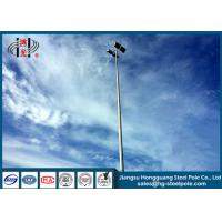 China Four Lights Highway Lighting Pole Slip Joint Flange Connected 20W- 1000W Power on sale