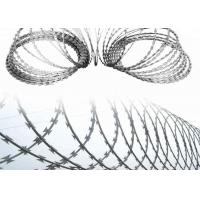 Quality Concertina Coil Wire Galvanized Crossed Razor Barbed Wire With Clips wholesale
