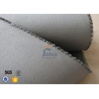 Quality Grey 1500gsm 1.5mm E Glass Cloth , Silicone Coated Fiberglass Cloth Sheets wholesale
