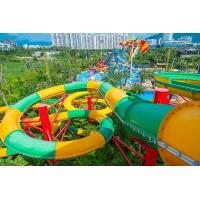 Quality Fiberglass Closed Spiral Black Hole Water Amusement Park Slides For Adult wholesale