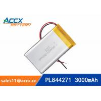 Cheap 844271 pl844271 3.7V 3000mAh li-ion battery rechargeable polymer batteries for sale