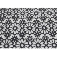 Quality Embroidered Dying Lace Fabric Floral Lace Organza Polyester Fabric For Dresses wholesale