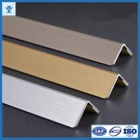 Cheap Brushed Gold Color Anodized Aluminum Angle Profiles for Decoration Material for sale