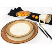 Quality Square Eco - Friendly Ceramic Dinnerware Sets Safety Humanized Design wholesale