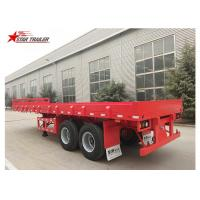 Quality 2 Axles 30ft 30Ton Flatbed Semi Trailer For Transporting Construction Machinery wholesale
