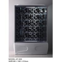 Quality 80 X 150 / cm Square Shower Cubicles with massage bathtub Double Rollers / wheels wholesale