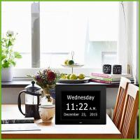 China large digital wall clock with day and date for seniors,american lifetime day clock on sale