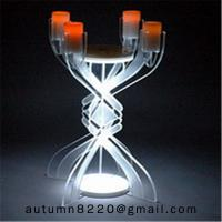 Quality CH (23) votive glass candle holder with acrylic stand wholesale