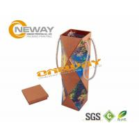 Quality Flat Packaging Cardboard Wine Packaging Boxes 750ml Bottle Wine Box wholesale