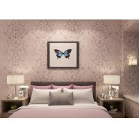 Quality Embossed Light Pink Living Room Wallpaper with Washable Vinyl Material , CE ISO Listed wholesale