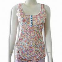 Quality Ladies Jersey Tank Top with Perfect Workmanship, Made of 100% Cotton wholesale