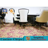 China Star Hotel Restaurant Dining Table And Chairs Simple Backrest With Stainless Steel Metal Pulley on sale