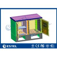 China Custom Base Station Cabinet Two Compartment 14U Space Height Outdoor on sale