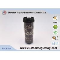 China V Shape Double Wall Drinking Plastic Coffee Cups With Lids 350ml 12oz on sale