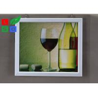 Quality Easily Changing Poster Lighted Picture Frame Box , Supermarket LED Snap Frame Box Energy Saving wholesale