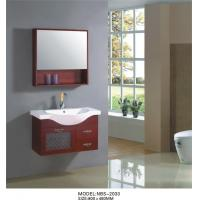 Quality Modern wood bathroom vanity  wall mounted 80 X 48 X 51 / cm  ISO2000 standard wholesale