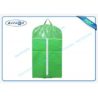 China Customized Mens Non Woven Suit Cover With Good Zipper And PVC Window on sale