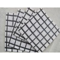 China Anti Tearing 100KnX100Kn Fiberglass Geogrid Composite Geotextile For Pavement Reinforcement on sale