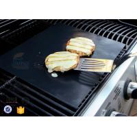 "Quality PTFE Teflon BBQ Grill Mat / Non Stick Silicone Baking Mat 15.75x13"" 0.2mm wholesale"
