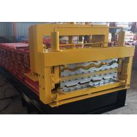 Quality Steel Roof Deck / Floor Deck Roll Forming Machine Panasonic PLC Control Durable wholesale