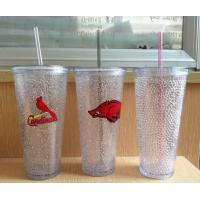 Quality HT-20 custom plastic straw drinks cup beer cup colors gel water PS material Cold beer cup wholesale