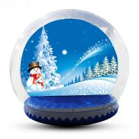 China 4m Big Inflatable Lawn Snow Globe / Blow Up Snow Globe Decoration on sale
