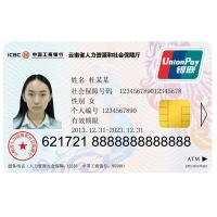 Quality Custom Security ID Card with Contact IC and ATM Card Function wholesale